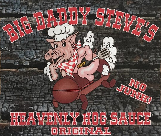 Logo for Steve Richardson's Heavenly Hog Sauce.