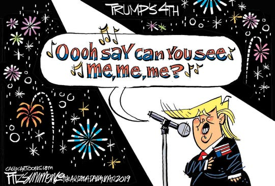 """Trump sings about """"Me"""" on Fourth."""