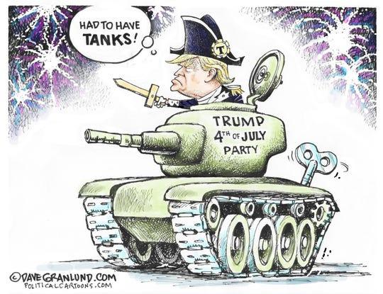 Trump in tank on Fourth
