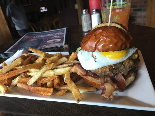 The Breakfast Burger from The Shepherd & The Knucklehead in Haldeon is Passaic County's best burger.