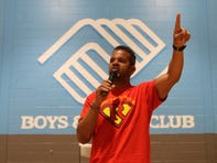 NFL Hall of Famer Andre Reed helps build reading room at Passaic Boys & Girls Club