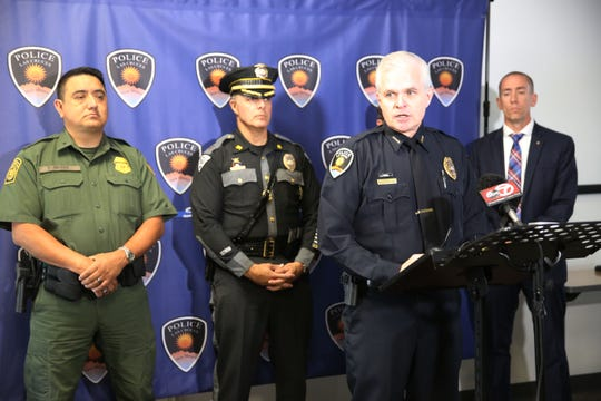 "Las Cruces Police Chief Patrick Gallagher discusses the June 17 police shooting that resulted in the death of Francisco ""Paco"" Tarin on Wednesday July 3, 2019."