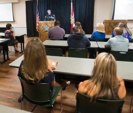 Escambia County Sheriff David Morgan held a press conference Wednesday to vehemently deny allegations that he participated in a law enforcement sex ring or influenced the investigation of the ring.
