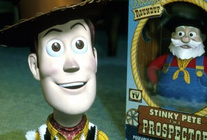 """Woody and Stinky Pete in """"Toy Story 2"""""""