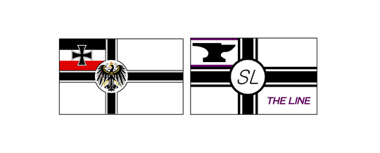 War Ensign of Germany (left) and Streamliner logo (right)
