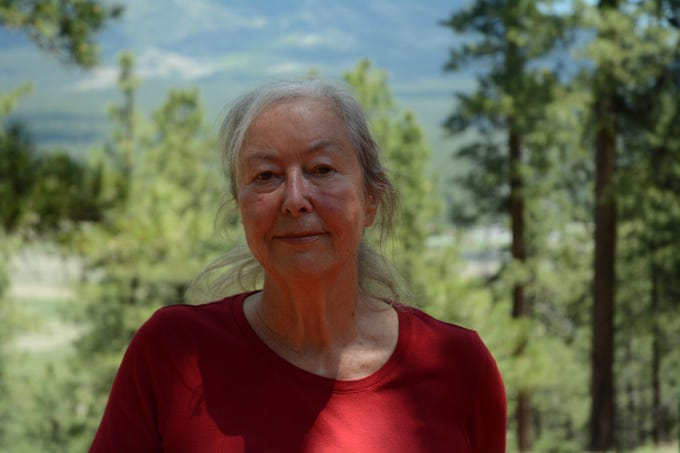 Baerbel Lucchitta at her home near Flagstaff on June 10, 2019.