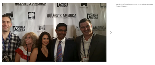 Screengrab from demanddaniel.com showing Daniel McCarthy with conservative commentator Dinesh D'Souza.