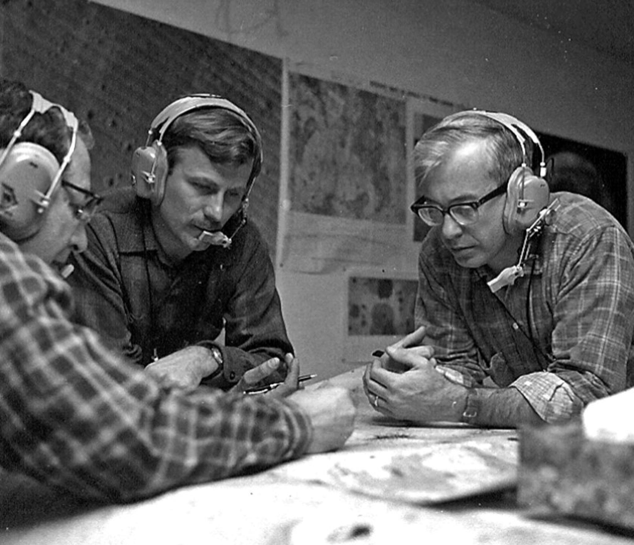 USGS geologists (from left) Al Chidester, Ivo Lucchitta and John M'Gonigle in 1969.