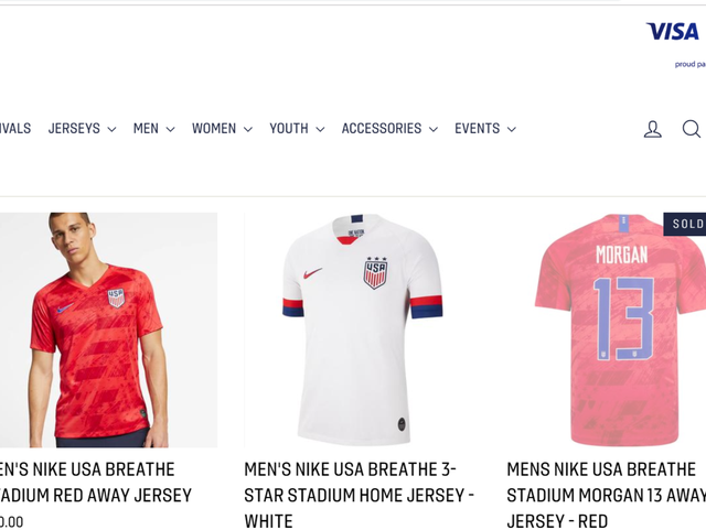 new style 245ba 197ea USWNT jersey sales spike to record highs