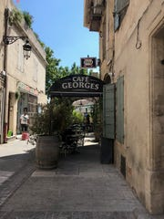 Arles, the city where Abigail Miller's host family lives, has cafes that line the streets.