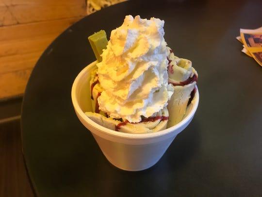 Thai fried ice cream from Roll'n Yen.