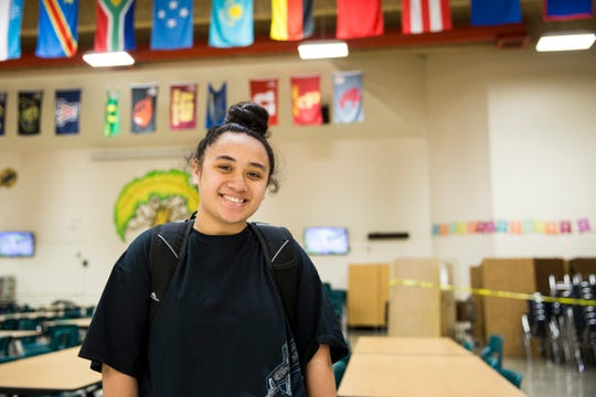 Carly Amida, a student in McKay's summer credit recovery program, is pictured at McKay High School in Salem on July 1, 2019.