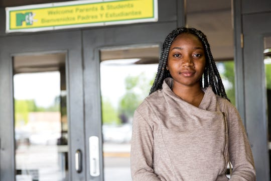 Chelsea Williams, a student in the summer credit recovery program, is pictured at McKay High School in Salem on July 3, 2019.
