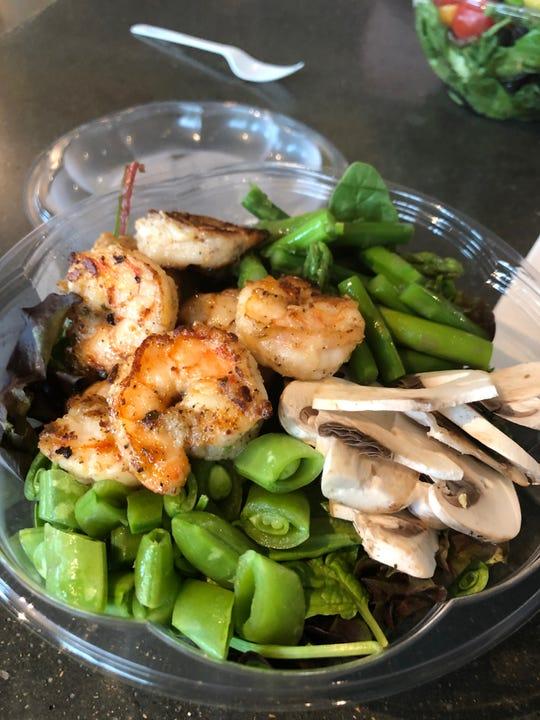 A shrimp salad at OG Greens in Sioux Falls.