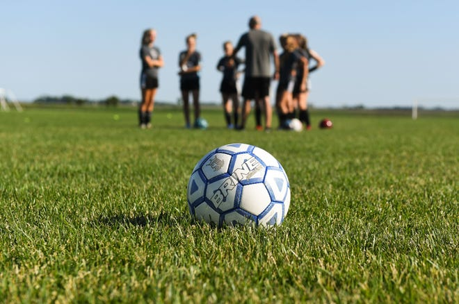 The Dakota Alliance soccer team for girls ages 13-14 practices Wednesday, June 26, at the Harrisburg Training Grounds.