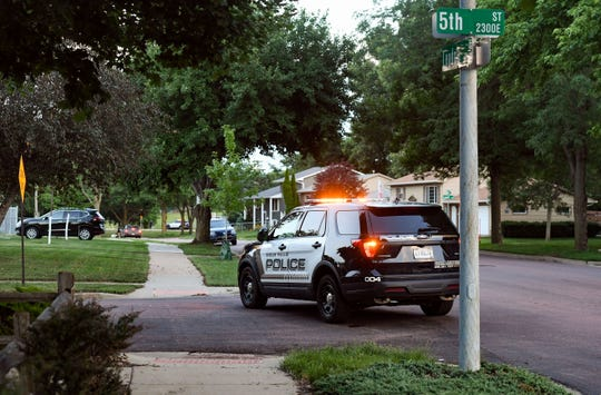 A police perimeter blocks access to Leaders Park on 5th Street after reports of shots fired within the park Tuesday evening, July 2, in Sioux Falls.