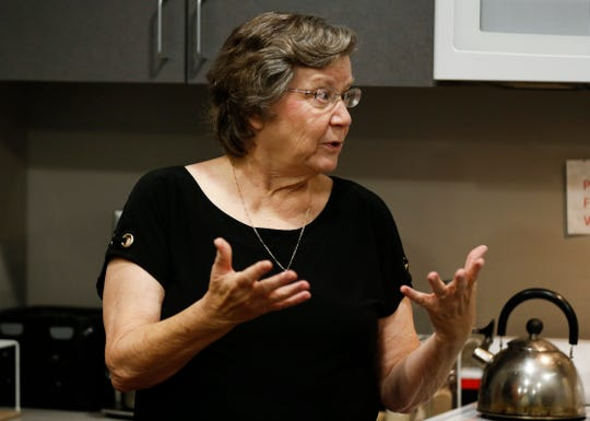 Carol Daniel talks about the Women's Medical Respite on Tuesday, July 2, 2019, a program she helped create.