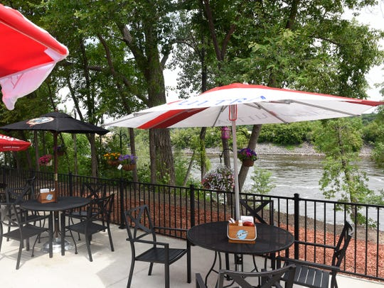 The Riverboat Depot has beautiful views of the Mississippi River on its new patio, Wednesday, July 3, 2019.