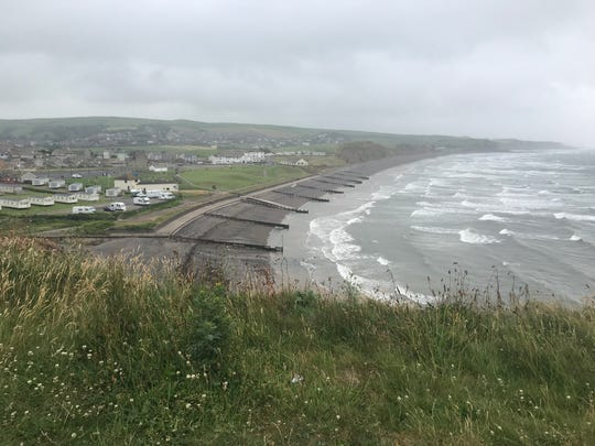View of the Coast from the top of the cliffs.