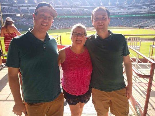 The Weiler family at Globe Life Park in Arlington, Texas.