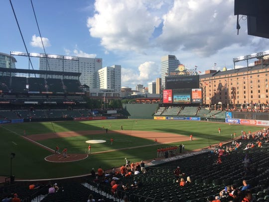 A look at Camden Yards in Baltimore, Maryland.