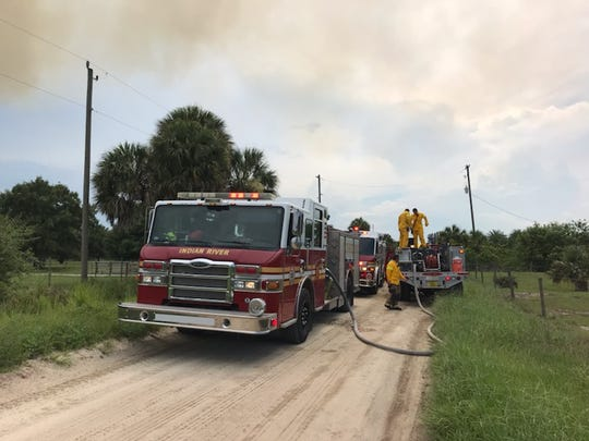 Indian River County Fire Rescue heard about a growing brush fire about 4 p.m. Wednesday in the south part of the county.