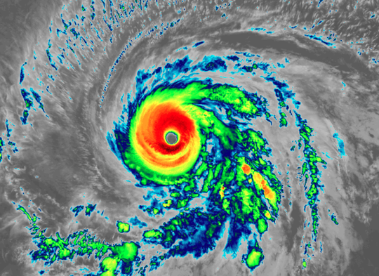 Hurricane Barbara 11 a.m. July 3, 2019.