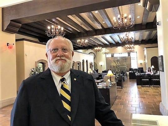 Les Parker, founder, CEO, and board chairman of United Bank of El Paso del Norte, in the bank's Downtown headquarters.  He's retiring after a 57-year banking career.