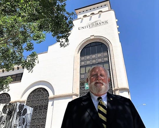 Les Parker, founder of United Bank of El Paso del Norte, stands outside the bank's Downtown headquarters shortly before he retired as the bank's CEO and board chairman in July 2019 after a 57-year banking career.