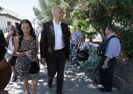 U.S. Senator and presidential candidate Cory Booker visited Juarez on Wednesday to visit with migrants at Centro de Atencion at the foot of the Paso del Norte Bridge.