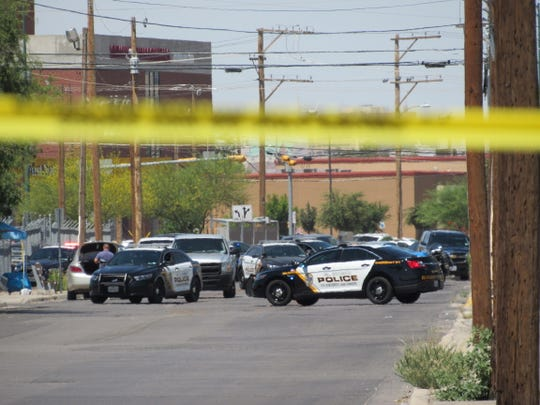 El Paso police officers cordon off the area near 5150 El Paso Drive, where a SWAT situation was taking place Wednesday, July 3, 2019. An armed woman sparked the standoff, police said.