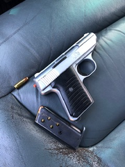 A loaded firearm found by Oxnard police during a traffic stop on Tuesday.