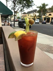 At Winchesters Grill & Saloon, a $5 Bloody Mary comes with Sunday-brunch views of Main Street in downtown Ventura.