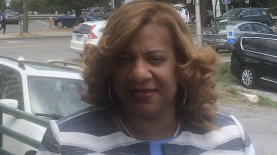 Shawyn Patterson-Howard on July 3, 2019, outside the Westchester Board of Elections
