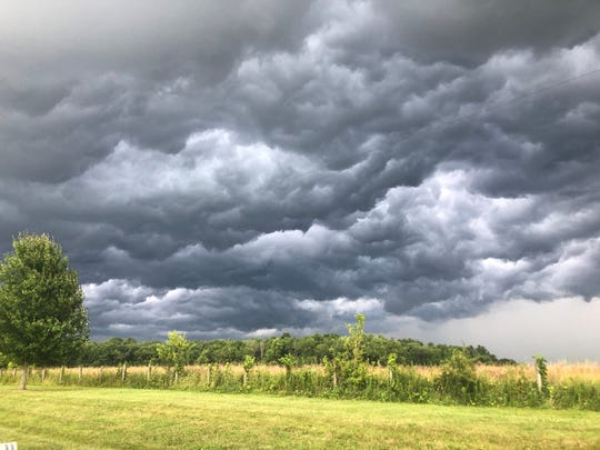 A resident on Applo Way submitted this photo as storms moved across Zanesville Tuesday evening.