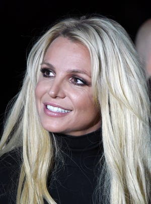 Britney Spears at Park MGM on Oct. 18, 2018 in Las Vegas.