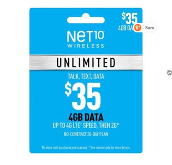 Net10 Wireless pre-paid card