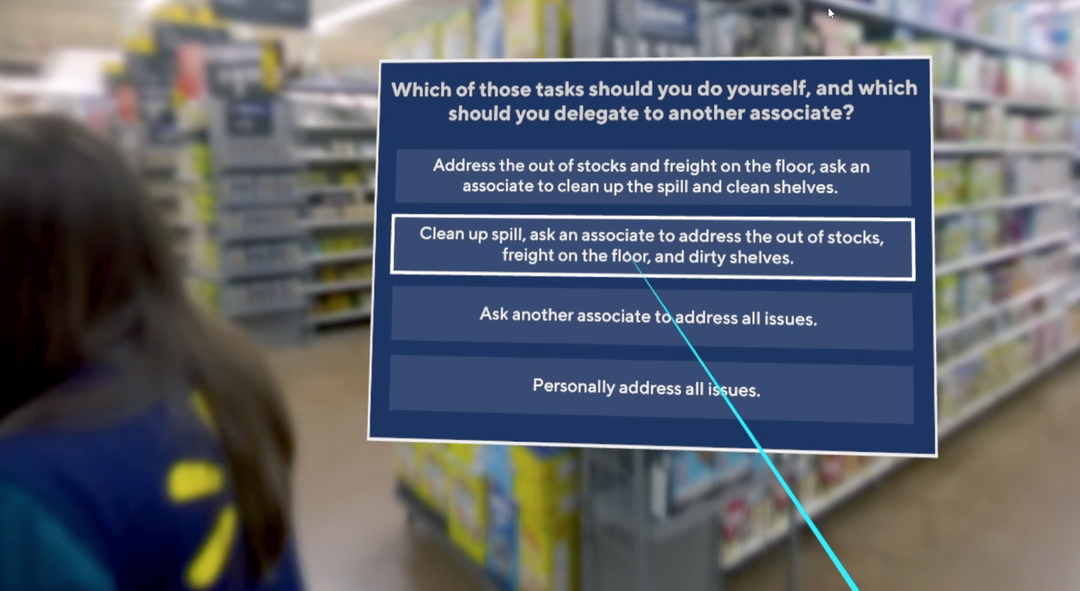 Walmart uses virtual reality to test new store managers   The Daily