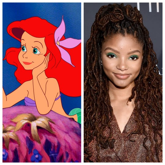 "Halle Bailey has been cast as Ariel in Disney's upcoming live-action ""The Little Mermaid."""