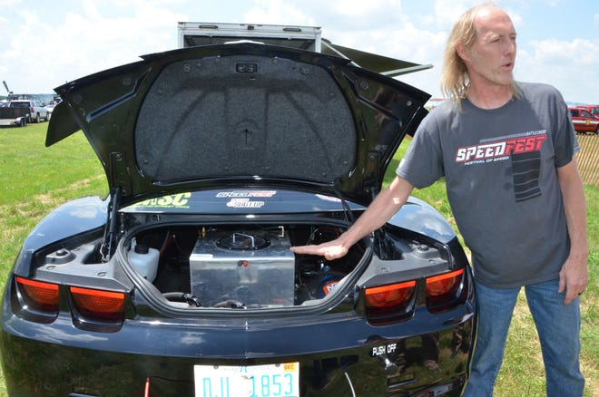 Clark Rosenstengel of Freemont, Michigan, is looking to eclipse 200 mph in his modified 2010 Chevy Camaro when he competes during Speedfest as part of the Field of Flight at W.K. Kellogg Airport.