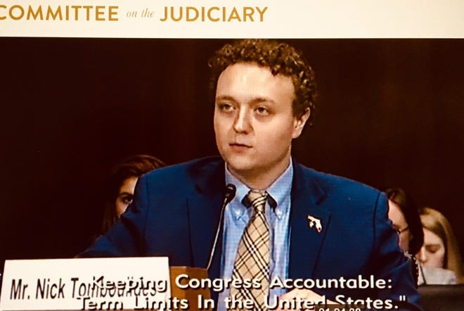 U.S. Term Limits Executive Director Nick Tomboulides of Brevard County testifies before the Senate Judiciary Subcommittee on the Constitution about his support for term limits for members of Congress.
