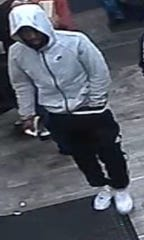 This man is being sought by Camden County Police regarding a robbery on Kaighn Avenue recently. They believe he also may be tied to a recent murder and abduction of a Camden man.