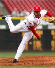 Johnny Cueto made his Major League debut with the Reds on Thursday, April 3 against the Arizona Diamondbacks.