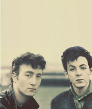 John Lennon, left, Paul McCartney