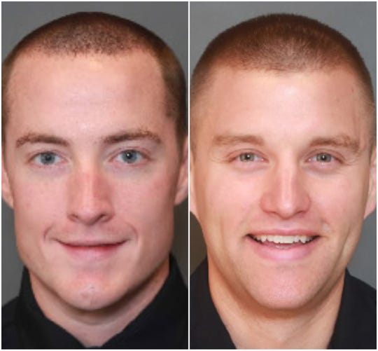 West Des Moines Police officers Matthew Wood and Nathan Grove