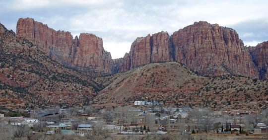 This Dec. 16, 2014, file photo, shows Hildale, Utah.