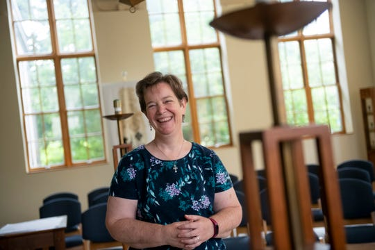Sister Mary Kay Dobrovolny works as a pastoral presence for students at the University of Detroit Mercy. She's seen inside the St. Ignatius Chapel on campus.