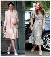 Meghan, Duchess of Sussex, left, and Kate, Duchess of Cambridge, continue to be trendsetters and bloggers have made careers out of tracking who and what they wear.