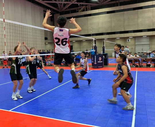 The Guahan Boys 16-1 team at the 2019 USA Boys' Junior National Volleyball Championships .
