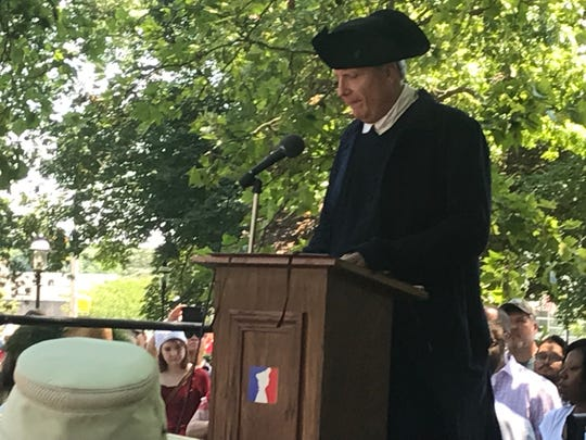 The seventh annual Revolutionary Times   event began with costumed re-enactors, live music and a reading of the Declaration of Independence on the Morristown Green. July 4, 2019.